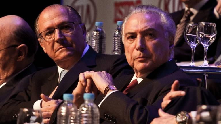 Governador de São Paulo Geraldo Alckmin e o presidente da República Michel Temer.