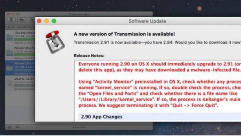 Mais um exemplo de ransomware, desta vez da família KeRanger, que ataca o sistema operacional dos Macs