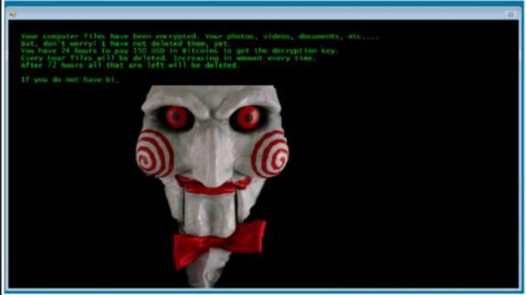 Os ransomwares da família Jigsaw são populares entre criminosos virtuais; nesta versão, quando a vítima reinicia o computador, o ransomware apaga mil arquivos