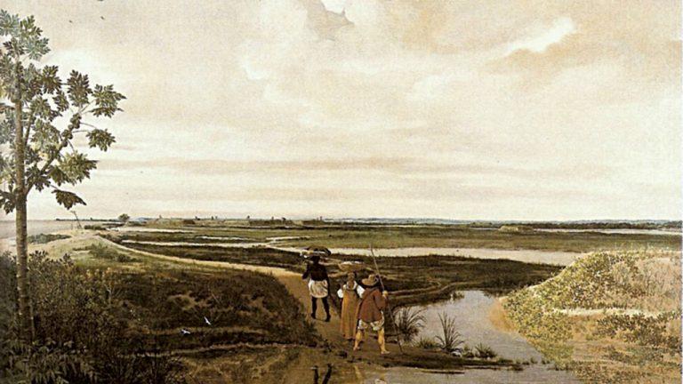 """1-O quadro """"Forte Frederick Hendrik"""" (1640), do holandês Frans Post, é considerado a primeira paisagem pintada no Brasil"""