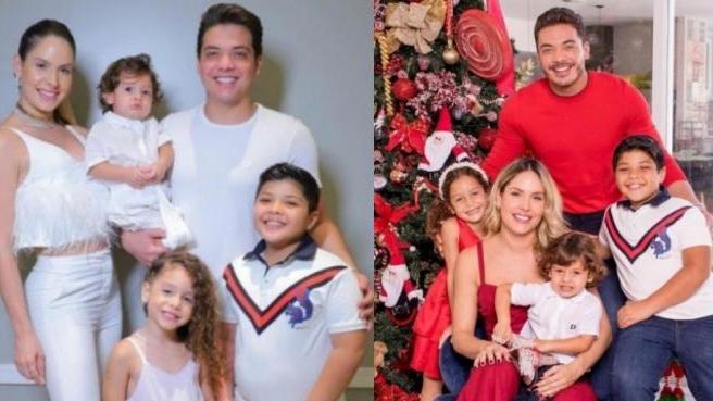 """Wesley Safadão e esposa rebatem críticas por filho repetir roupa no Natal: """"Não é descartável"""""""