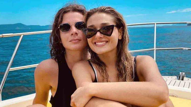 Sasha e o namorado, João Figueiredo, também estão em Angra dos Reis.