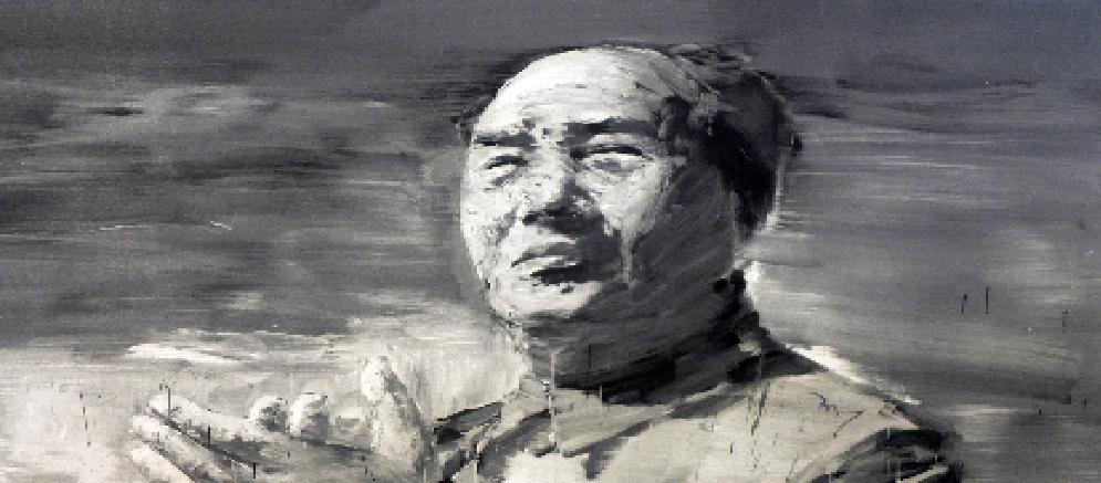 Os imensos retratos do chinês que pinta com pincéis longos