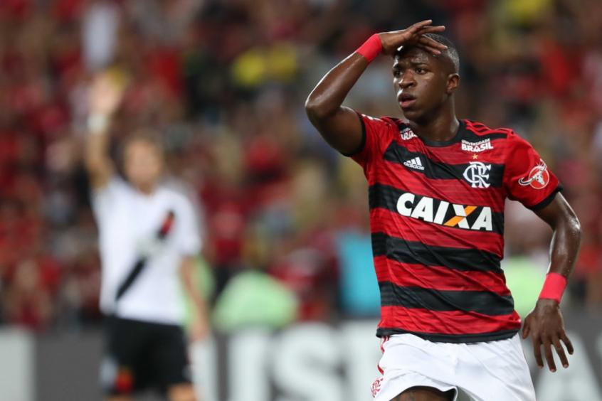 Flamengo parabeniza Vini Jr após atuação de destaque na Champions League: 'Estamos sempre na torcida'