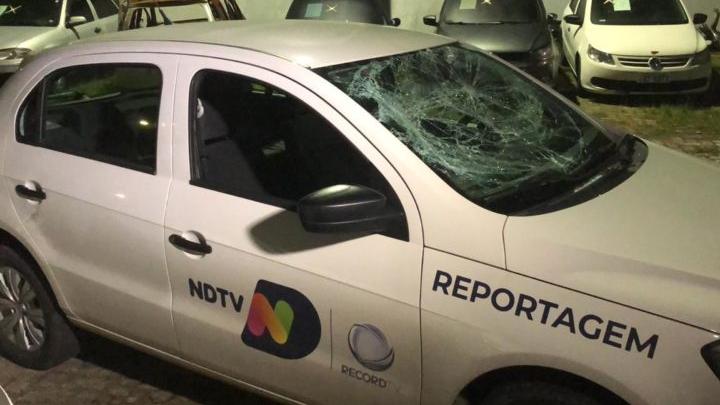 Equipe da NDTV Record é agredida durante produção de reportagem em Joinville (SC)