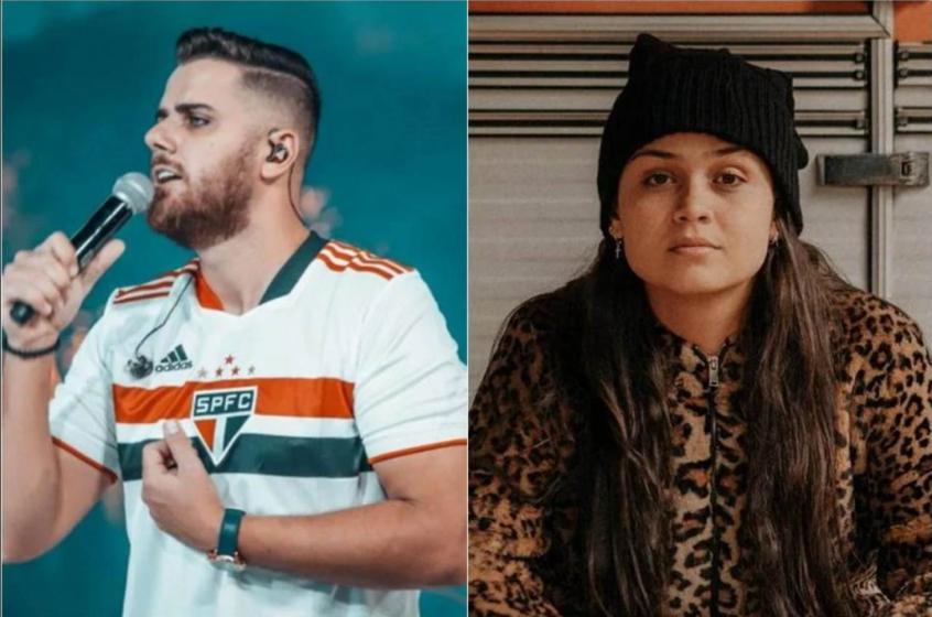 Fala homofóbica de sertanejo Zé Neto sobre o São Paulo gerou climão com cantora em live