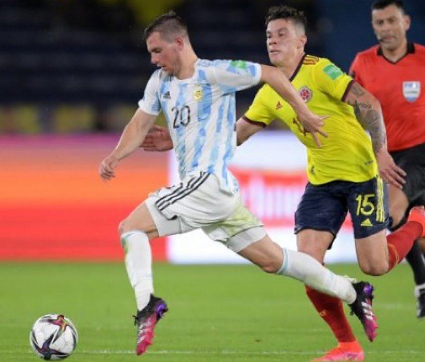 Tudo igual! Com gol de Borja, Colômbia arranca empate contra a Argentina