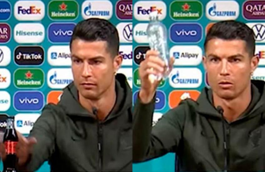 Coca-Cola tem queda brutal de US$ 4 bilhões com gesto de Cristiano Ronaldo