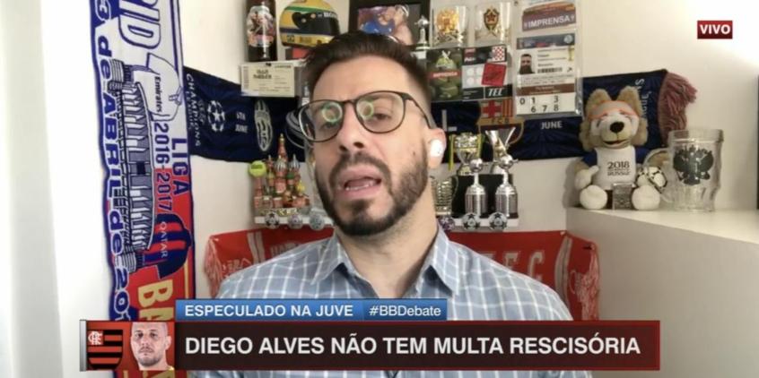 Para Facincani, Flamengo pode perder Diego Alves por 'negociação desesperada' com goleiro