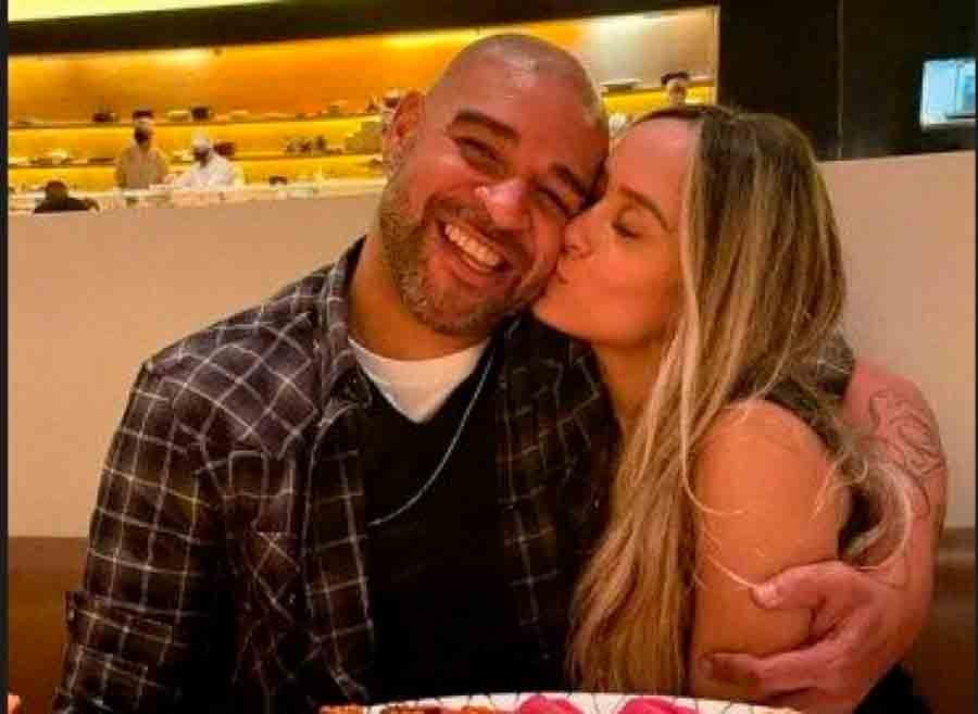 Adriano termina com namorada após conhecer família dela em churrasco, diz jornal
