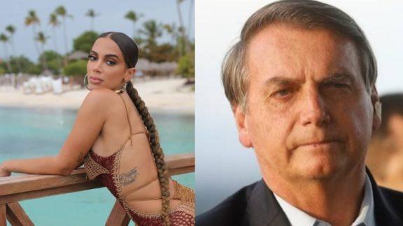 'Se Deus quiser o presidente cai', dispara Anitta sobre Bolsonaro