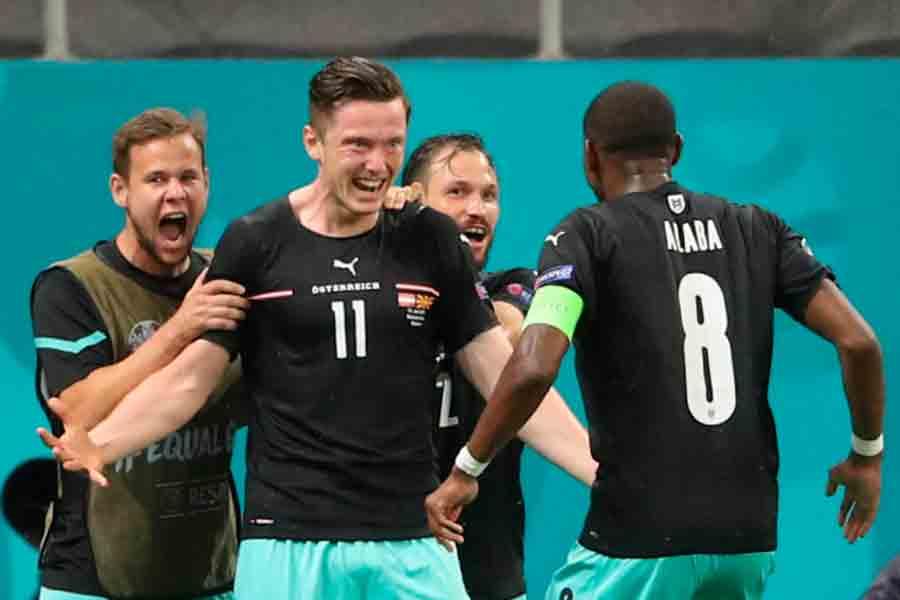 Áustria vence a Macedônia do Norte na estreia do Grupo C da Eurocopa