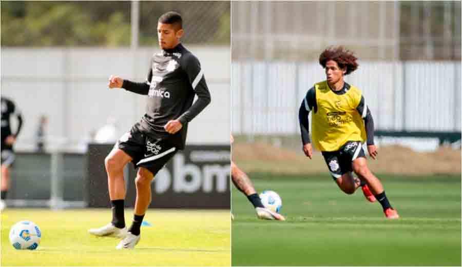 Dupla da base integra treino do Corinthians nesta segunda-feira