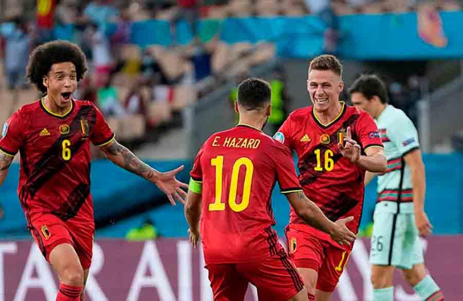 Com golaço de Thorgan Hazard, Bélgica vence Portugal e avança às quartas de final da Eurocopa