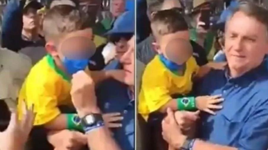 Vídeo: Em evento no Rio Grande do Norte, Bolsonaro abaixa máscara de criança para tirar foto