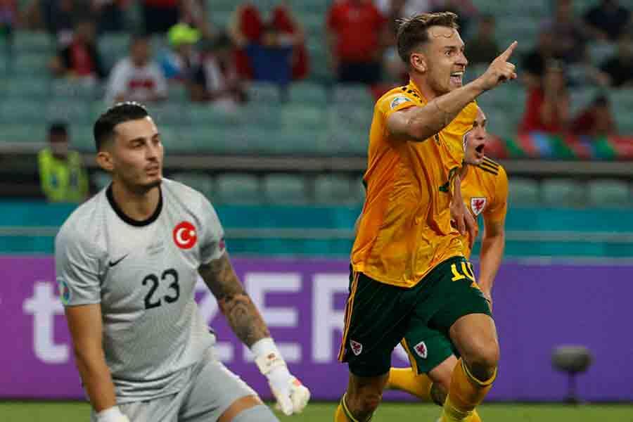 País de Gales vence a Turquia e fica perto de conseguir classificação no Grupo A da Eurocopa