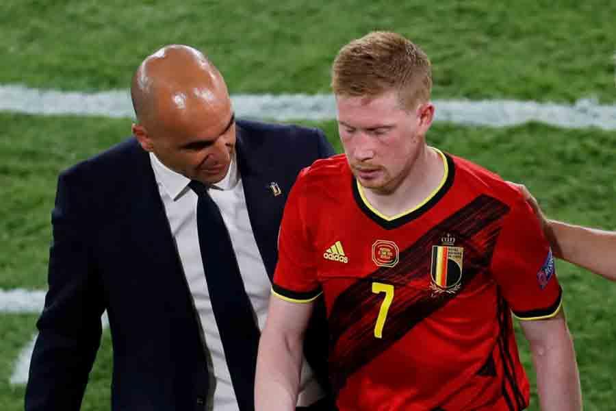 Martínez comemora vitória, mas mostra preocupação após lesões de Hazard e De Bruyne: 'Cedo para dizer'