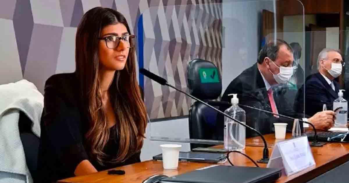 Ex-atriz pornô Mia Khalifa entra na brincadeira e posta montagem na CPI da Covid