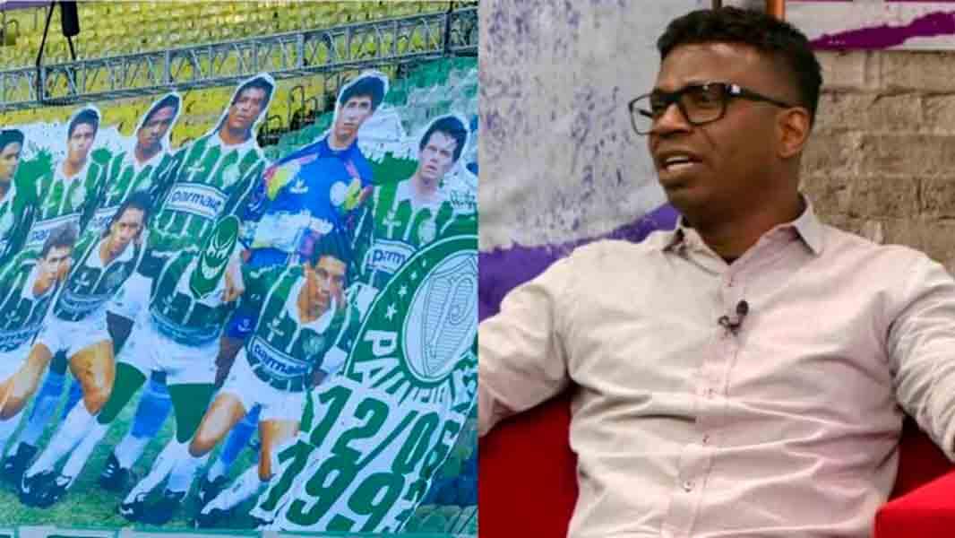 'Sou negro e tenho orgulho': Edílson diz que torcida do Palmeiras foi racista em o excluir de mosaico