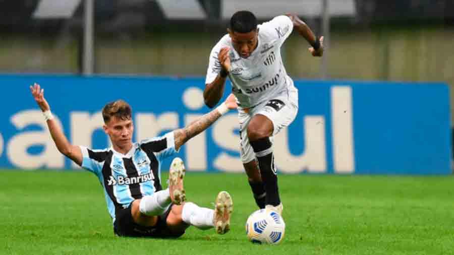 Santos joga bem e empata com o Grêmio em Porto Alegre no Brasileirão