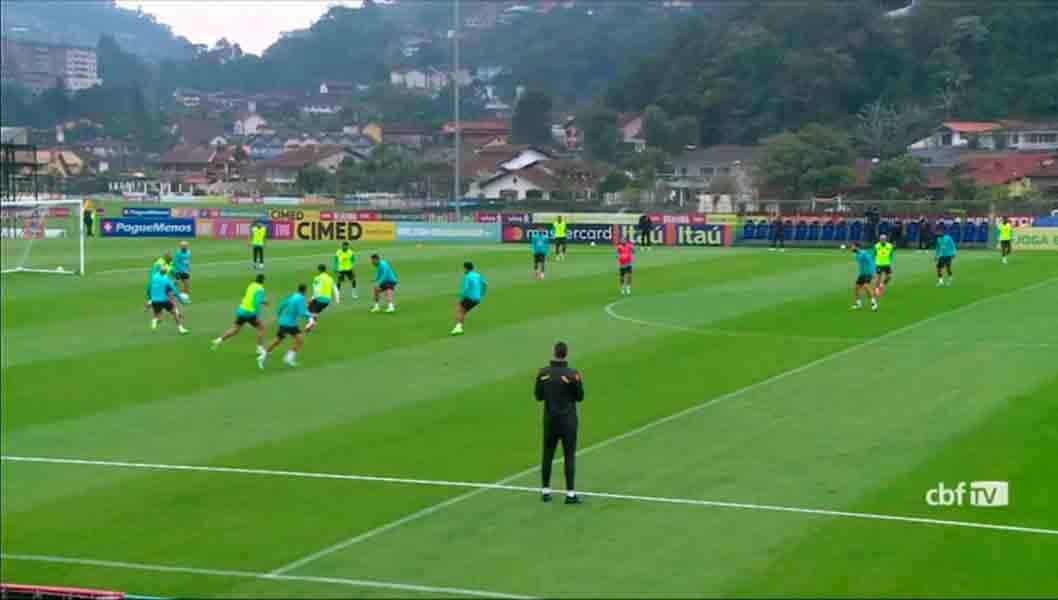 Seleção Brasileira realiza treino antes de enfrentar o Peru, pela Copa América; veja como foi