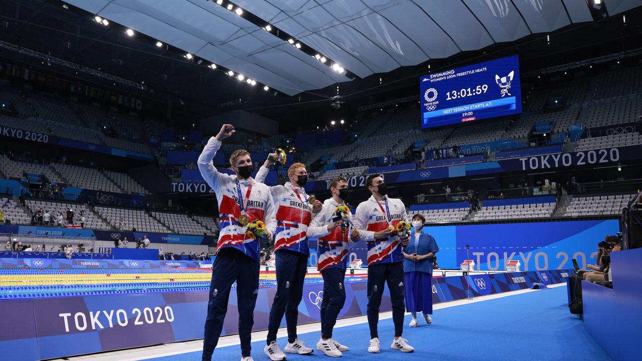Natação: Grã-Bretanha é ouro 4x200m livre masculino e Brasil é 8º