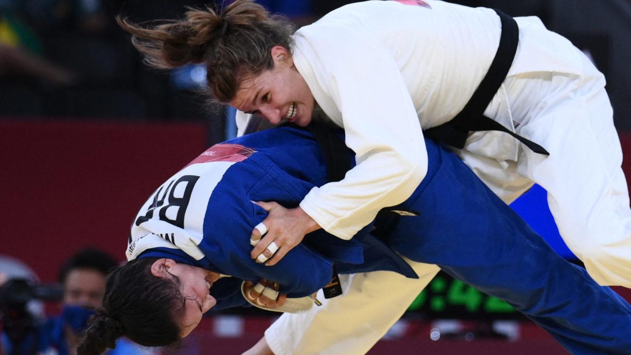 Judô: Mayra Aguiar perde nas quartas de final e vai disputar a repescagem