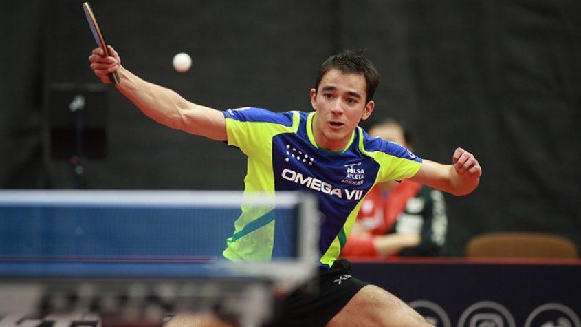 Hugo Calderano vence e vai às oitavas de final do tênis de mesa nos Jogos Olímpicos de Tóquio