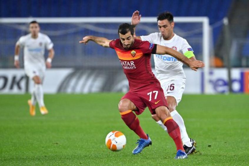 Mkhitaryan comenta discussão entre Dzeko e Paulo Fonseca na Roma: 'Foi feio'