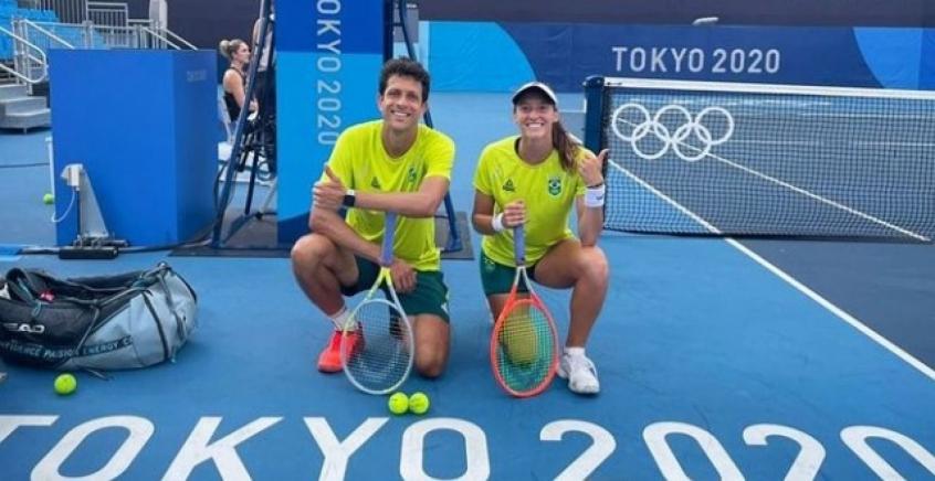 Luisa Stefani e Melo encaram Djokovic nas mistas em Tóquio