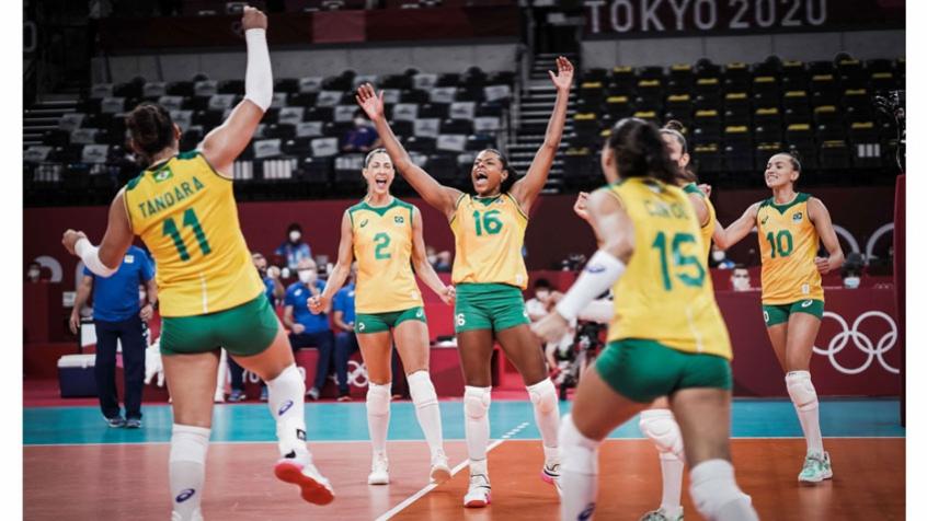 Brasil sofre, mas vence as dominicanas e segue 100% no vôlei nos Jogos Olímpicos de Tóquio