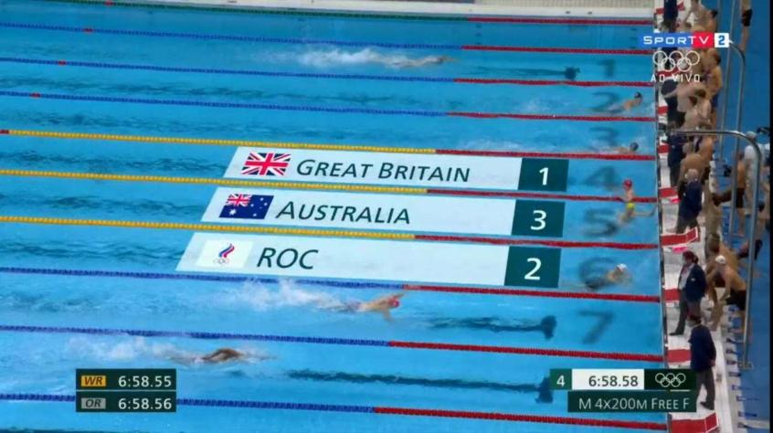 Grã-Bretanha é ouro no revezamento 4x200m livre masculino; Brasil fica em oitavo
