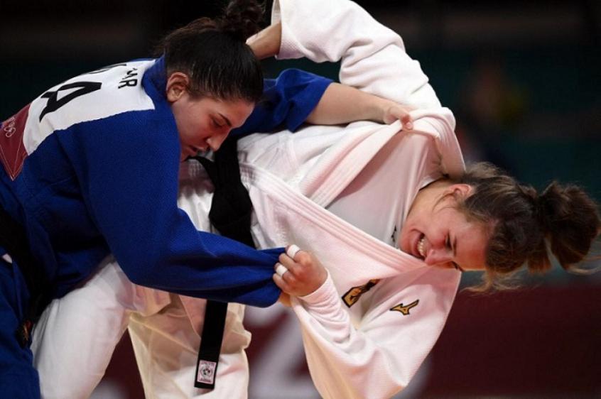 Mayra Aguiar é derrotada por alemã, mas ainda pode brigar pelo bronze