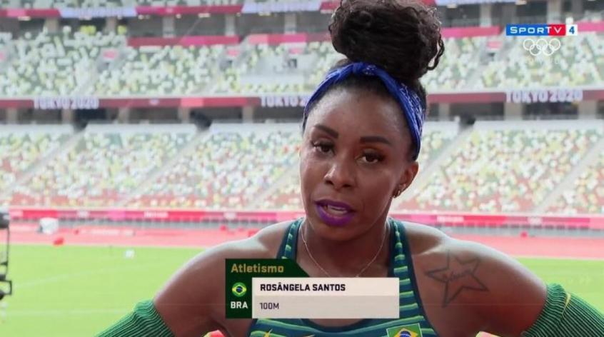 Atletismo: Rosângela Santos fica em 28º lugar e não avança à semifinal dos 100m