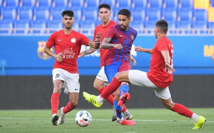Matheus Pereira, comemora estreia no Barcelona com gol: 'Trabalhando muito para tenha mais chances'