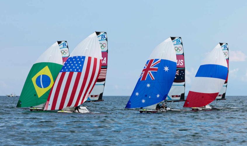 Jogos Olímpicos de Tóquio têm cenário parecido com da Rio-2016 nas regatas de 49erFX