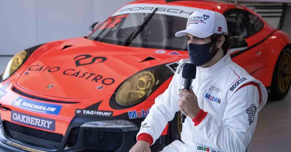 Carro de Caio Castro na Porsche Cup custa R$ 1,3 milhões e tem recado de Grazi