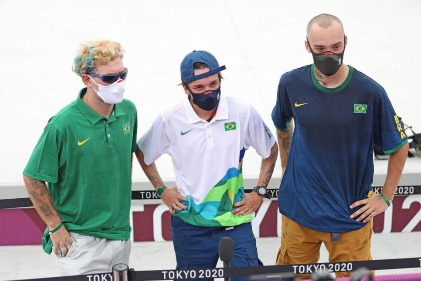 Luiz Francisco, Pedro Quintas e Pedro Barros garantem vaga na final do skate park masculino