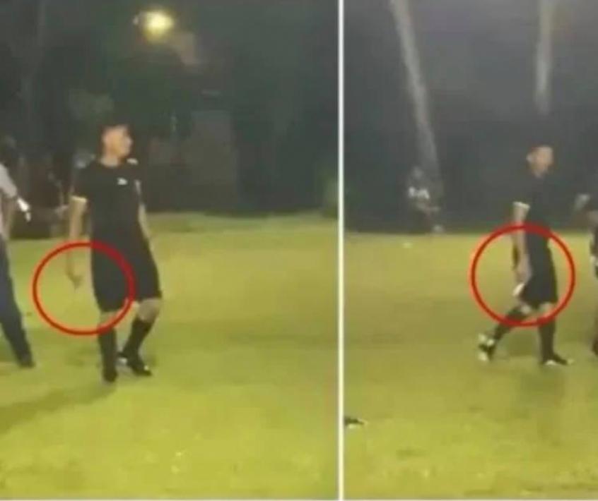 Árbitro usa arma para ameaçar torcedores que invadiram gramado em Honduras