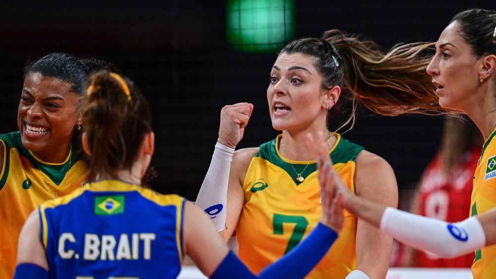 Seleção de vôlei feminino vence Comitê Olímpico Russo e está nas semifinais
