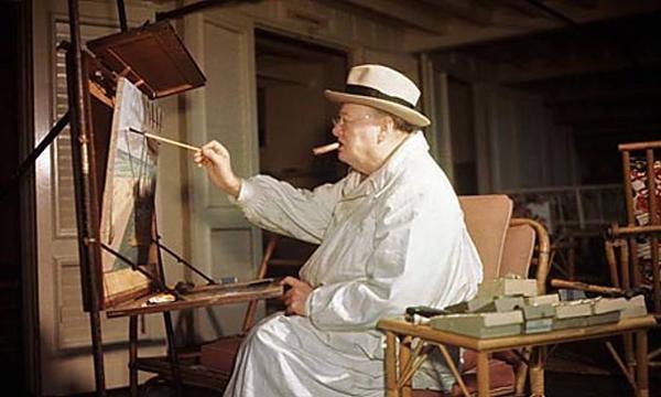 Winston Churchill: o primeiro-ministro inglês que fazia história e também pinturas