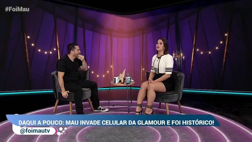 Glamour Garcia no programa 'Foi Mau'
