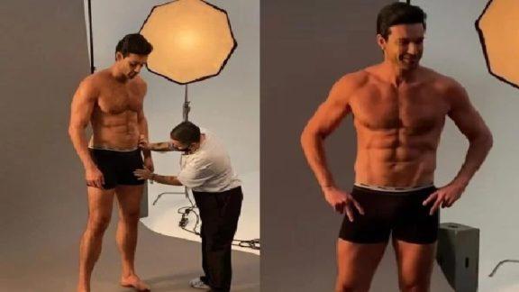 Sergio Marone diz que teve assistente para ajeitar seu pênis em ação fotográfica