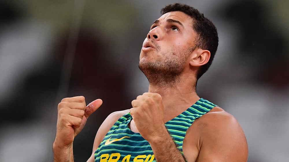 Thiago Braz conquista medalha de bronze no salto com vara