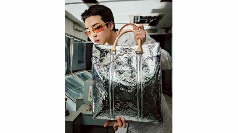 PARA VIAJAR  Bolsas da linha masculina da  Louis Vuitton têm  efeito espelhado