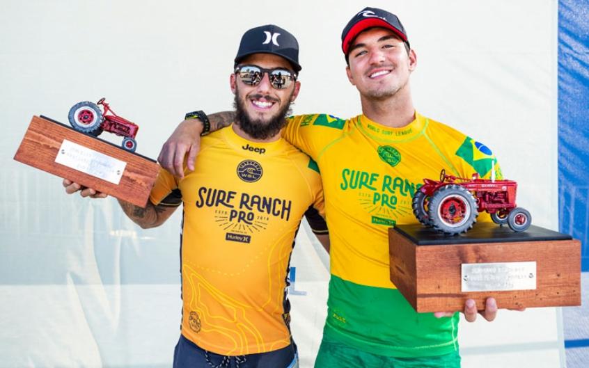 Vice-campeão, Filipe Toledo festeja tricampeonato de Gabriel Medina: 'Obrigado pelo exemplo'
