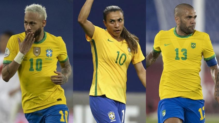 Neymar, Marta, Daniel Alves… Veja os jogadores que se manifestaram no Dia da Independência