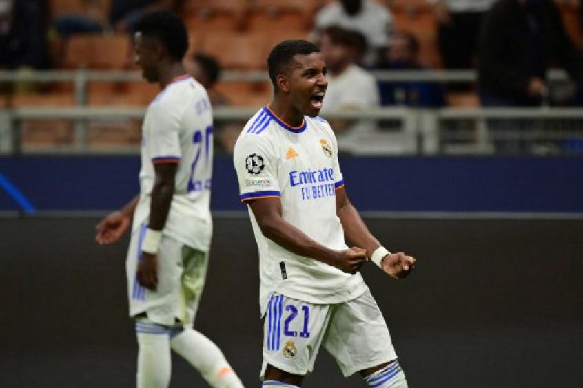 Rodrygo brilha e Real Madrid vence a Inter de Milão nos minutos finais pela Champions League