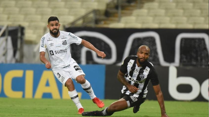 Santos sofre no ataque, mas evolui na defesa e empata com o Ceará
