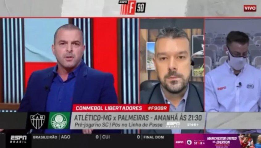 Zé Elias bate boca com jornalista na ESPN após discordâncias sobre tatuagem: 'Não desvirtue o que falei'